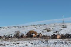 Cemetery in southeastern Kazakhstan Stock Photos
