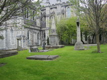 Cemetery at St Patrick Cathedral in Dublin, Ireland stock photography