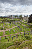 Cemetery in Stirling. Cemetery with Church in Stirling, Scotland Stock Photos