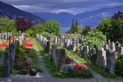 Cemetery in Thun. Switzerland Stock Image