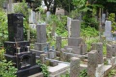 Cemetery in Tokyo stock photo