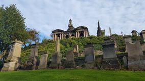 Cemetery with tombs and monuments. Glasgow cemetery with tombs and monuments stock photo