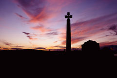 Celta Cross on Sunset Stock Images