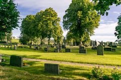 Cemetery and tombstones at Kola cemetery Stock Images