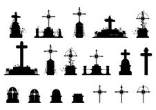 Cemetery tombstones Royalty Free Stock Photography