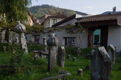 Cemetery with Tombstones in Sarajevo, Bosnia and Herzegovina. Cemetery with Tombstones in Sarajevo, Bosnia Stock Image