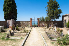 Cemetery on the top of the island Maggiore Royalty Free Stock Image