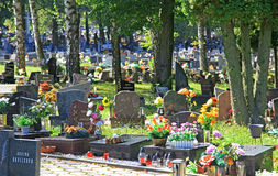 Cemetery in town Ruzomberok, Slovakia Stock Images
