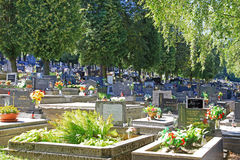 Cemetery in town Ruzomberok, Slovakia Royalty Free Stock Photography