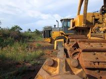 Cemetery tractors. Stock Photos