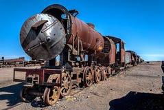 Cemetery of trains Stock Photos