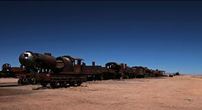 Cemetery of trains in Bolivia Stock Photography