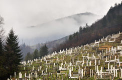 Cemetery in Travnik. Bosnia and Herzegovina.  Stock Photography