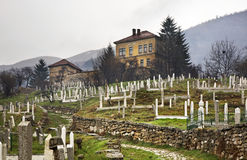 Cemetery in Travnik. Bosnia and Herzegovina Royalty Free Stock Image