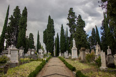 Cemetery in Tuscany Stock Images