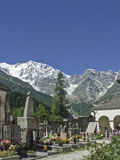 Cemetery in the Valle Anzasca Stock Photo