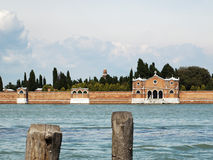 The cemetery of Venice Stock Image