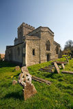 Cemetery in a village near Oxford, UK. Royalty Free Stock Photo