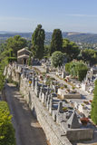 The cemetery in the village of Saint-Paul de Vence Stock Photos