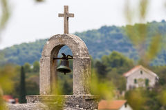 Cemetery of village Selca on the island of Hvar in Croatia Royalty Free Stock Photography
