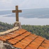 Cemetery of village Selca on the island of Hvar in Croatia Royalty Free Stock Photos