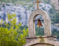Cemetery of village Selca on the island of Hvar in Croatia Stock Images