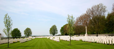 Cemetery at Vimy Ridge Stock Image
