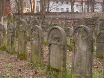 Cemetery. Warsaw, Poland - March 20, 2016: The Jewish Cemetery on Okopowa Street in Warsaw Stock Photos