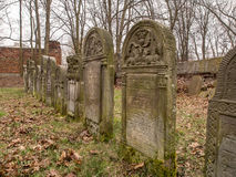 Cemetery. Warsaw, Poland - March 20, 2016: The Jewish Cemetery on Okopowa Street in Warsaw Royalty Free Stock Image