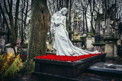 Cemetery in Warsaw Stock Image
