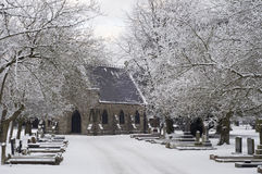 Cemetery, winter time Stock Photos