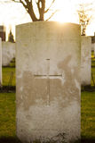 Cemetery world war flanders fields Belgium Royalty Free Stock Image