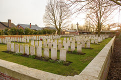 Cemetery world war flanders fields Belgium Stock Photo