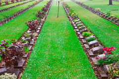 Cemetery of World War II soldiers. Royalty Free Stock Image