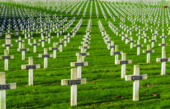 Cemetery world war one in France Vimy La Targette. Royalty Free Stock Photography