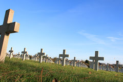 Cemetery world war one in France Vimy La Targette. Royalty Free Stock Images