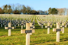 Cemetery world war one in France Vimy La Targette. Stock Photos