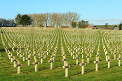 Cemetery world war one in France Vimy La Targette. Stock Image