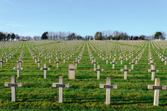 Cemetery world war one in France Vimy La Targette. Royalty Free Stock Image