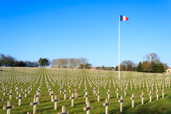 Cemetery world war one in France Vimy La Targette. Royalty Free Stock Photos