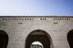 Cemetey de guerre de Kanchanaburi Image stock