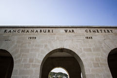 Cemetey di guerra di Kanchanaburi Immagine Stock