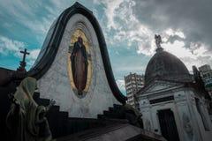 Cemetry在Recoletta,布宜诺斯艾利斯 免版税图库摄影