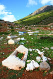 Cemetry in Rif Mountains Stock Photo