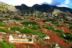 Cemetry in Rif Mountains Stock Image