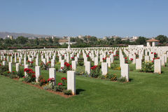 Cemetry at Souda. The Commonwealth War Graves Commission at Souda bay containing Allied Soldiers who fell in World War II Royalty Free Stock Photography