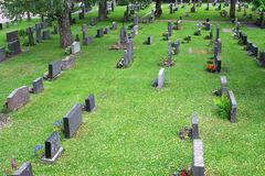 Cemetry in Suomi Stock Photos