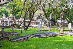 Cemetry with trees in George town, Penang Royalty Free Stock Photos