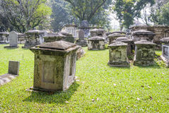 Cemetry with trees in George town, Penang Stock Images