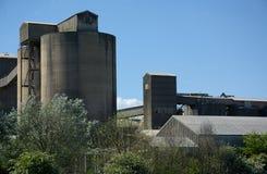 Cemex cementarbeten, södra Ferriby, Barton på-Humber UK arkivbilder